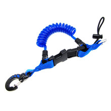 Shark Coil Lanyard with 1 Snap and Quick Release Buckles Blue