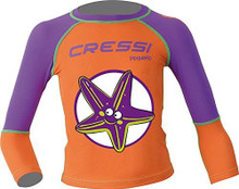 Cressi Purple Pequeno Girls Kids UV UPF+50 Sun Protective Starfish Rash Guard