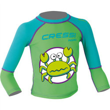 Cressi Green Pequeno Boys Kids UV UPF+50 Sun Protective Crab Rash Guard
