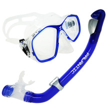 Palantic Blue Jr. Snorkeling Prescription Dive Mask & Dry Snorkel Combo