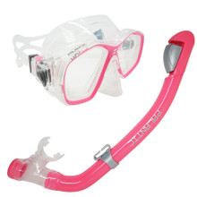 Palantic Pink Jr. Snorkeling Prescription Dive Mask & Dry Snorkel Combo
