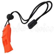 Scuba Diving Dive Safety Dolphin Shape Whistle Loudest w/ Lanyard & Clip