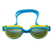 Palantic Jr. Silicone Swim Goggles w/ UV Tinted Lenses, Blue/Yellow