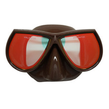 Palantic Spearfishing Free Dive Low Volume Brown Mask With Mirror Coated Lenses