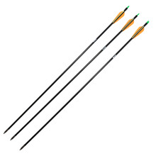 "Safari Choice Archery 31.5"" Fiberglass Hunting Arrows 8mm, 3pc pack"