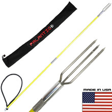 4.5' Travel Two Piece Spearfishing Fiber Glass Pole Spear w/ Lionfish Tip & Bag