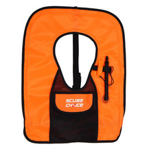 Scuba Choice Adult Orange Snorkel Vest With Front Pocket & Whistle