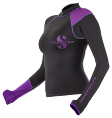 Scubapro Rash Guard Lady Long Sleeve - Black / Purple