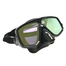 Scuba Choice Silicone Dive Mask With Yellow Mirror Coated Lense