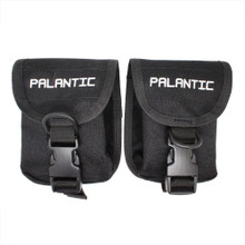 Scuba Diving Palantic Trim Counter Weight Pocket Pouch with QR Buckles, Pair, Black