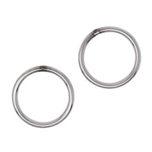 "Scuba Choice 316 Stainless Steel Welded Round Ring 6mm x 50mm (1/4"" x 2""), 2pc"