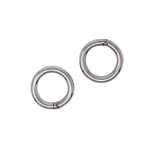 """Scuba Choice 316 Stainless Steel Welded Round Ring 6mm x 25mm (1/4"""" x 1""""), 2pc"""