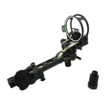 "Safari Choice Archery 7-Pin 0.019"" Bow Sight w/ Detachable Bracket, Black"