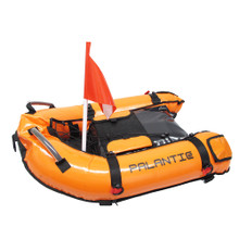 Palantic Scuba Diving Inflatable Gangway Float Boat with Dive Flag & Air Pump