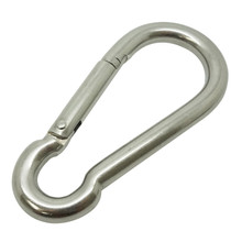 Boat Marine Clip 12cm Stainless Steel Snap Hook Carabiner 16mm Opening