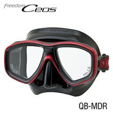 Tusa Ceos Mask - Black/Metallic Dark Red