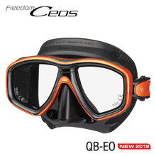 Tusa Ceos Mask - Black/Energy Orange