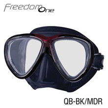 Tusa Freedom One Mask - Black/Metallic Dark Red