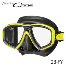 Tusa Ceos Mask - Black/Flash Yellow