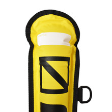 Scuba Diving 4ft Dark Yellow Surface Marker Signal Tube w/ Plastic Clip