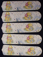 """New CLASSIC WINNIE POOH BLUE 52"""" Ceiling Fan BLADES ONLY"""