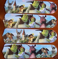 "New SHREK PRINCESS FIONA 42"" Ceiling Fan BLADES ONLY"