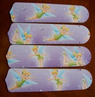 "New TINKERBELL PRINCESS 42"" Ceiling Fan BLADES ONLY"