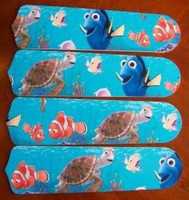 "New FINDING NEMO 42"" Ceiling Fan BLADES ONLY"