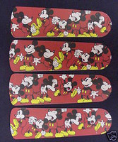 "New DISNEY MICKEY MOUSE 42"" Ceiling Fan BLADES ONLY"