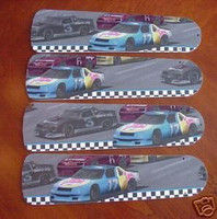 "New NASCAR RACE CAR CARS 52"" Ceiling Fan BLADES ONLY"