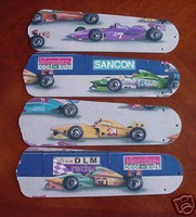"New INDY 500 RACING CARS 52"" Ceiling Fan BLADES ONLY"
