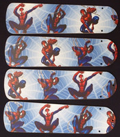 "New SPIDERMAN SPIDER MAN 42"" Ceiling Fan BLADES ONLY"