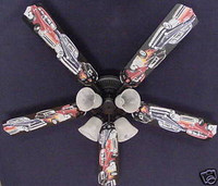 New 1950s HOT ROD MUSCLE CAR CARS Ceiling Fan 52""