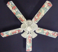 New FIRE TRUCKS DALMATIAN DOGS PUPPIES Ceiling Fan 52""