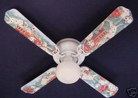New FIRE TRUCKS DALMATIAN DOGS PUPPIES Ceiling Fan 42""