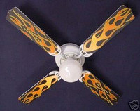 New HOT ROD FIRE FLAMES Ceiling Fan 42""