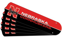 "New NCAA NEBRASKA CORNHUSKERS 42"" Ceiling Fan Blade Set"
