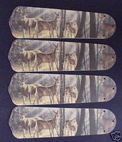 Deer Buck Doe Hunting Ceiling Fan Blades 42""