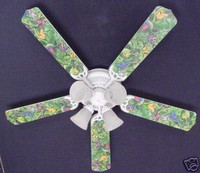 """New TROPICAL RAINFOREST FROGS FROG Ceiling Fan 52"""""""