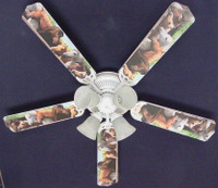 New HORSES HORSE EQUESTRIAN Ceiling Fan 52""