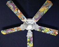 New LIZARD GECKO IGUANA RAINFOREST Ceiling Fan 52""