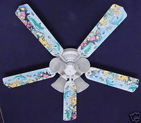 New DOLPHINS FISH REEF OCEAN Ceiling Fan 52""