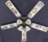 New BUCK MOOSE BEAR Ceiling Fan 52""