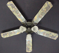 New BLACK BEAR LOG CABIN WILDERNESS Ceiling Fan 52""