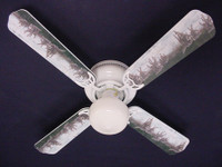 New RUNNING WOLVES WOLF Ceiling Fan 42""