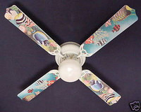 New TROPICAL OCEAN FISH REEF AQUARIUM Ceiling Fan 42""