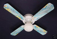 New PLAYFUL DOLPHINS DOLPHIN Ceiling Fan 42""