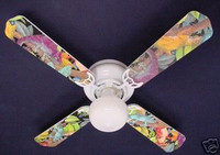 New LIZARD GECKO IGUANA RAINFOREST Ceiling Fan 42""
