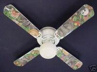 "New LION TIGER PARROT GIRAFFE JUNGLE Ceiling Fan 42"""