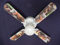 New HORSES HORSE EQUESTRIAN Ceiling Fan 42""